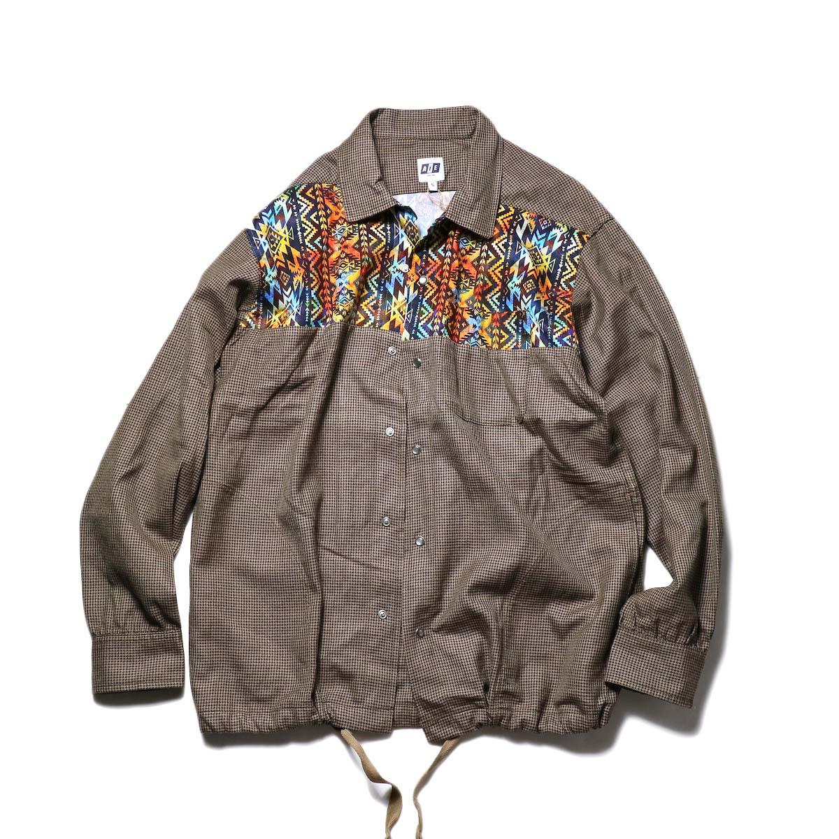 AiE / Coach Shirt -Wool Check (Brown)正面