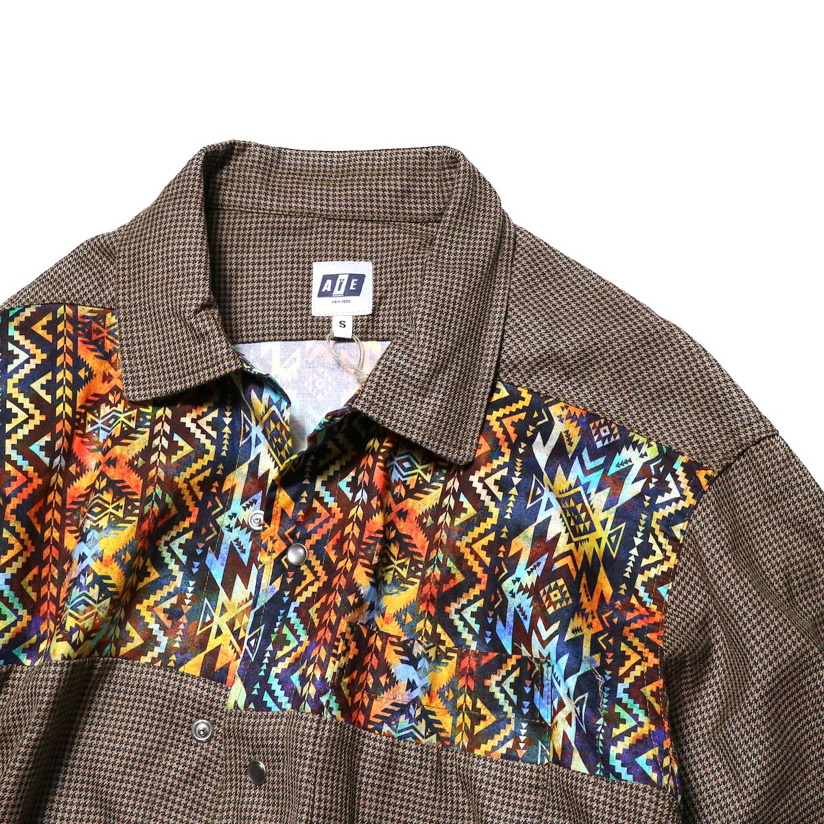 AiE / Coach Shirt -Wool Check (Brown)ヨーク