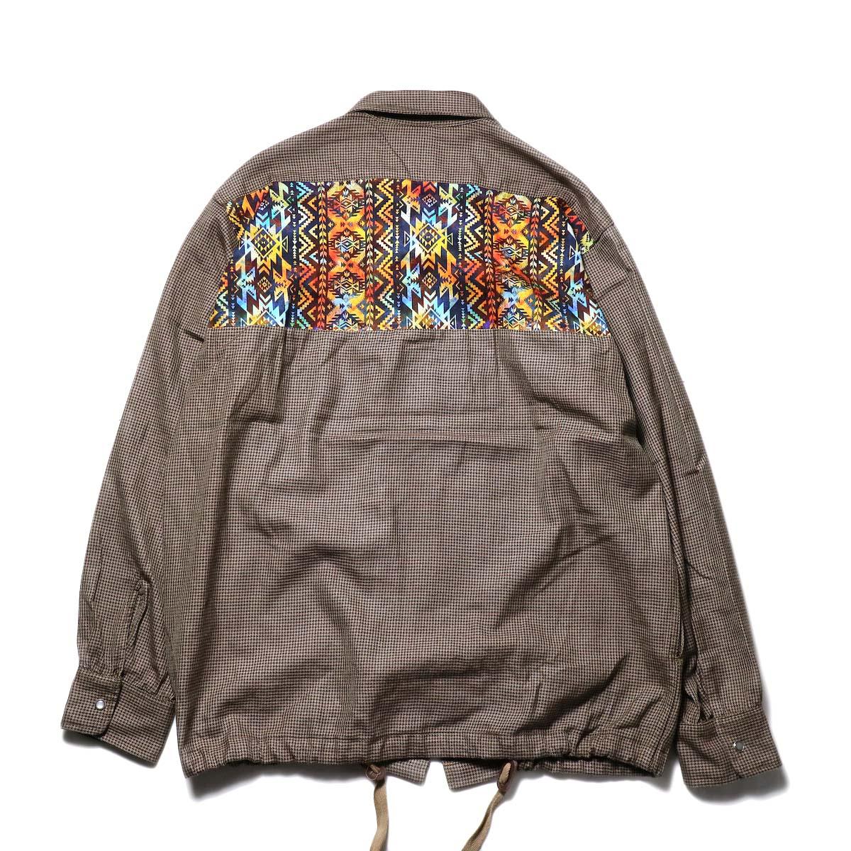 AiE / Coach Shirt -Wool Check (Brown)背面