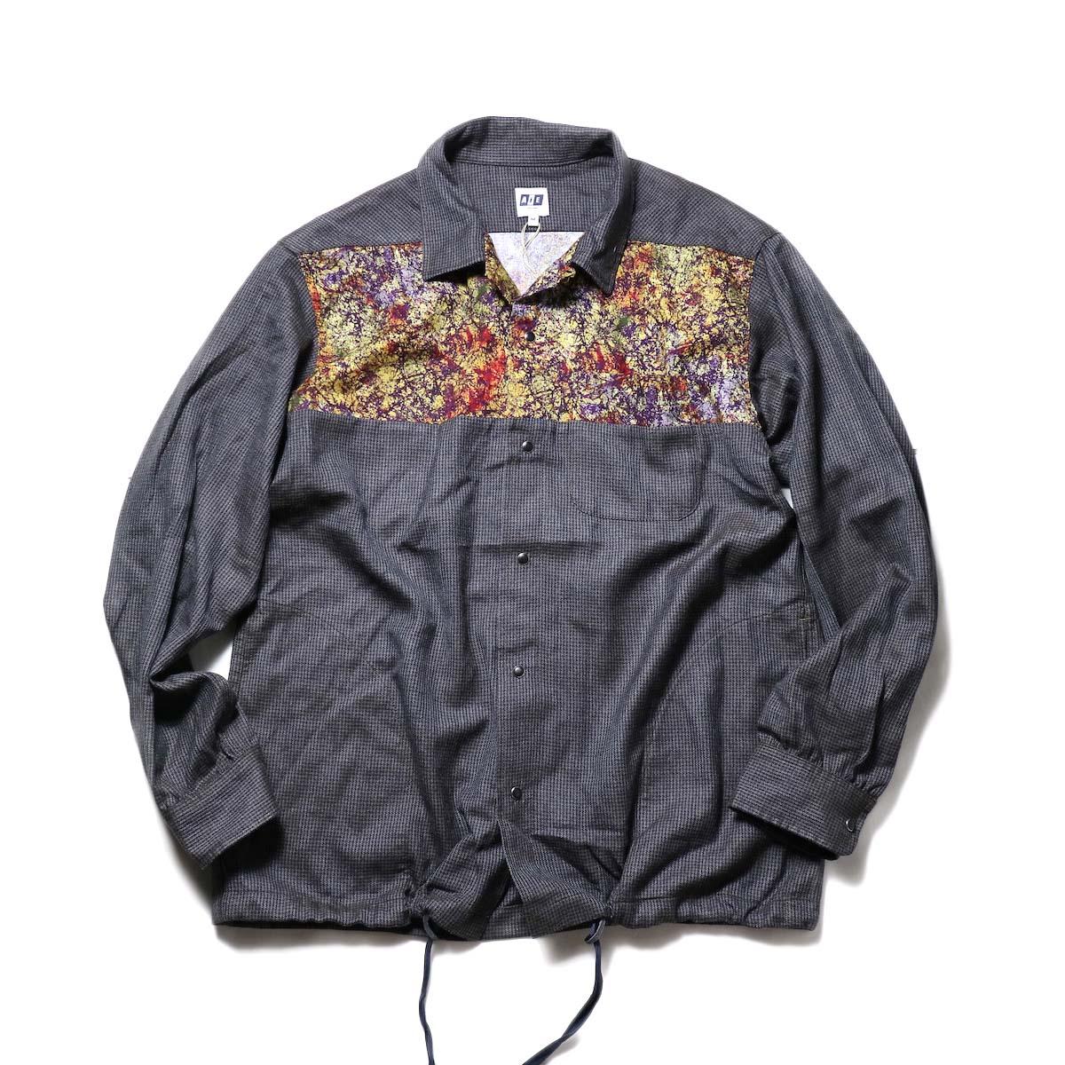 AiE / Coach Shirt -Wool Check (Charcoal)