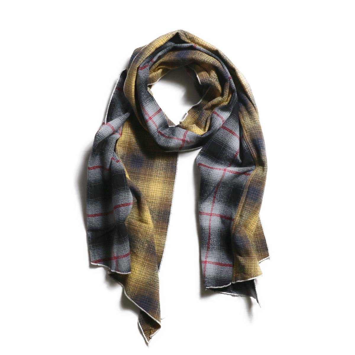 AiE / dls scarf - Cotton Flannel Plaid (Yellow)