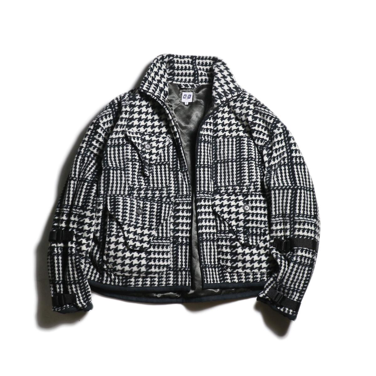 AiE / DOC Jacket -Houndstooth Fleece (Black×White)