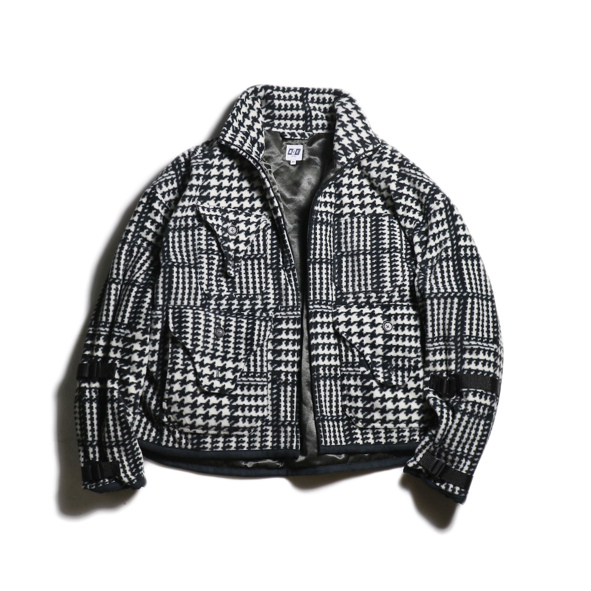 AiE / DOC Jacket -Houndstooth Fleece (Black×White)