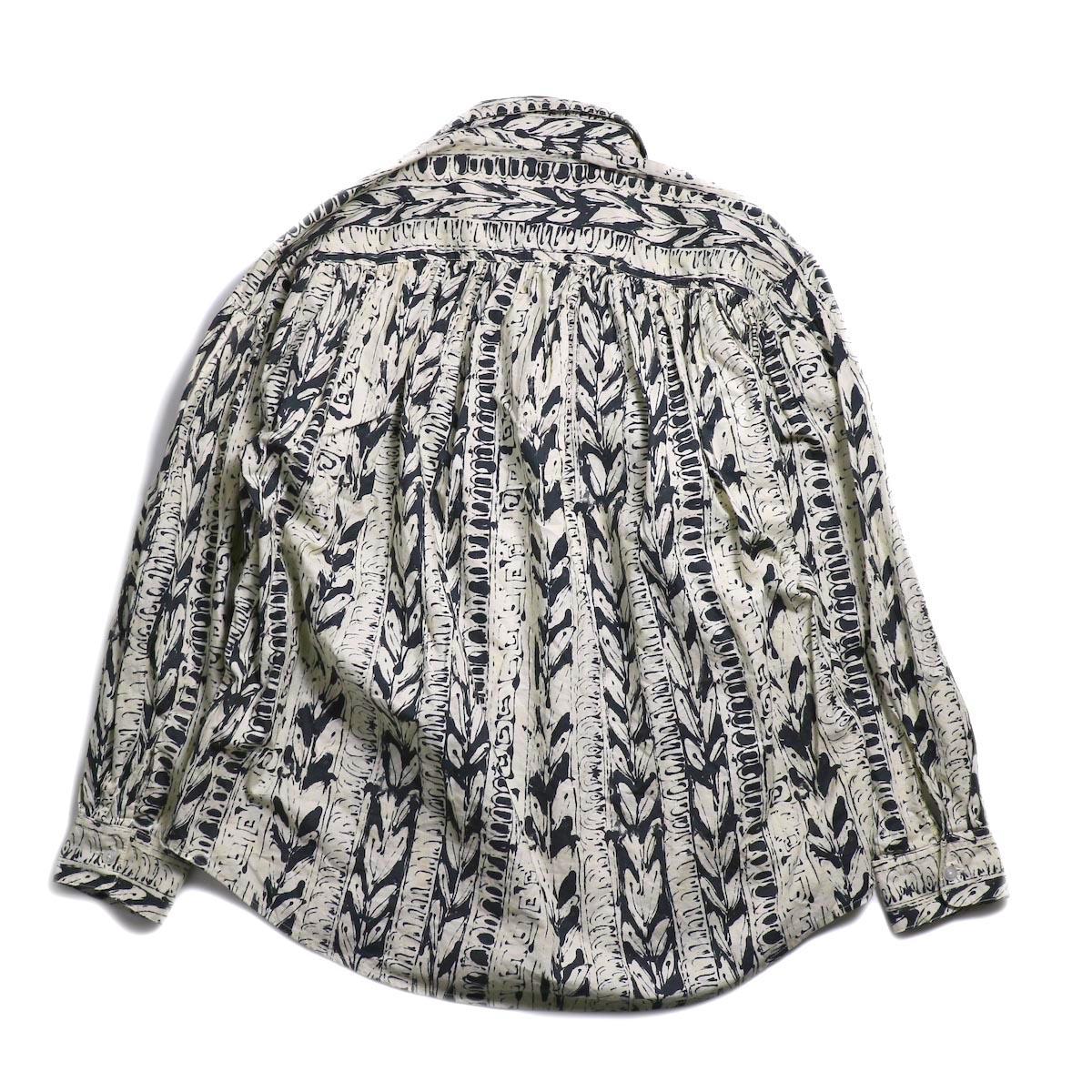 AiE / Painter Shirt -Art Stripe Motif (Natural/Black)  背面