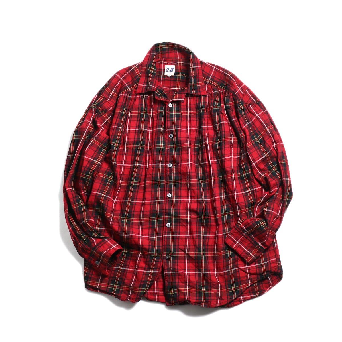 AiE / Painter Shirt -Cotton Tartan Check (Red) 正面