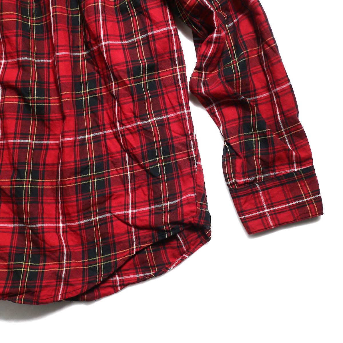 AiE / Painter Shirt -Cotton Tartan Check (Red) 裾