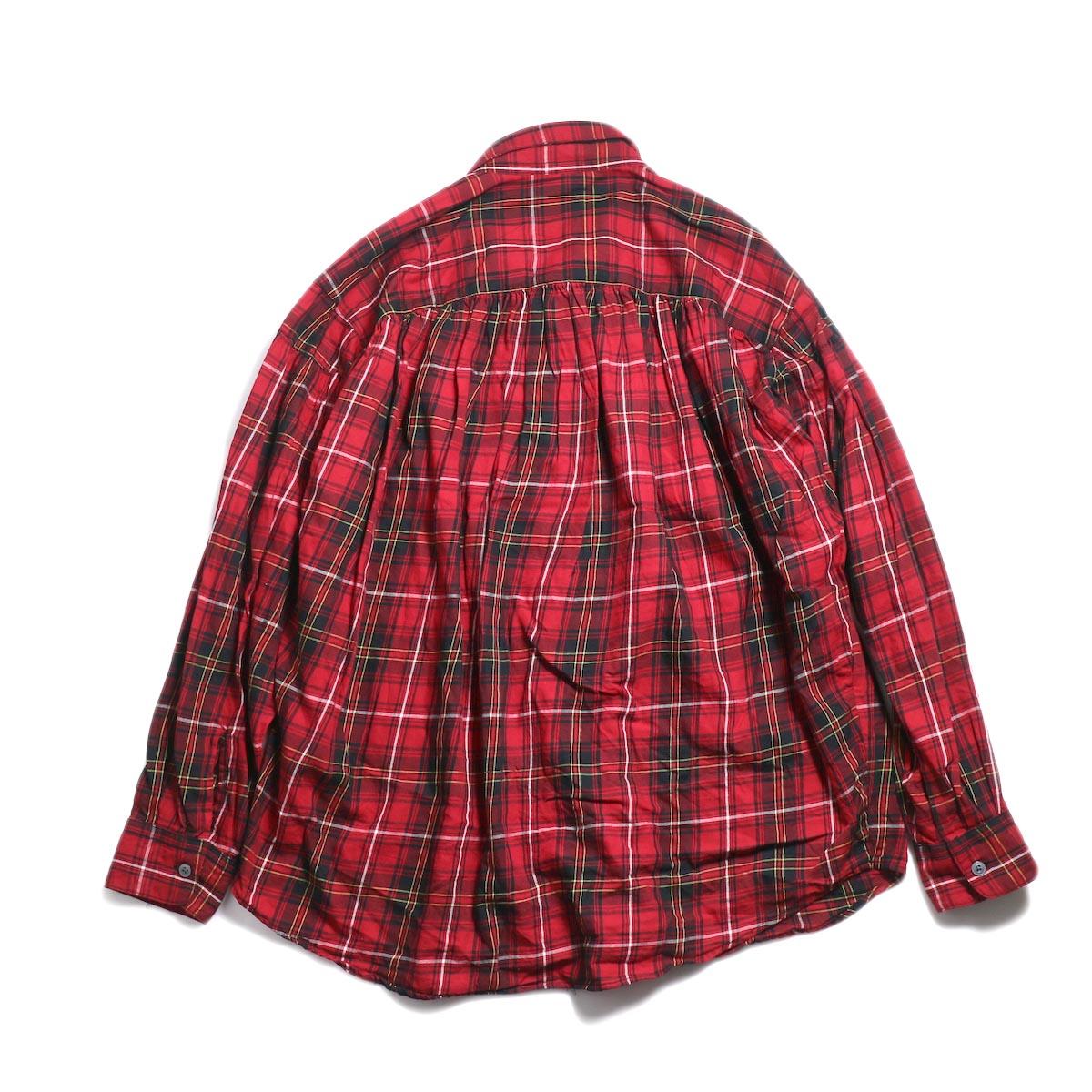 AiE / Painter Shirt -Cotton Tartan Check (Red) 背面
