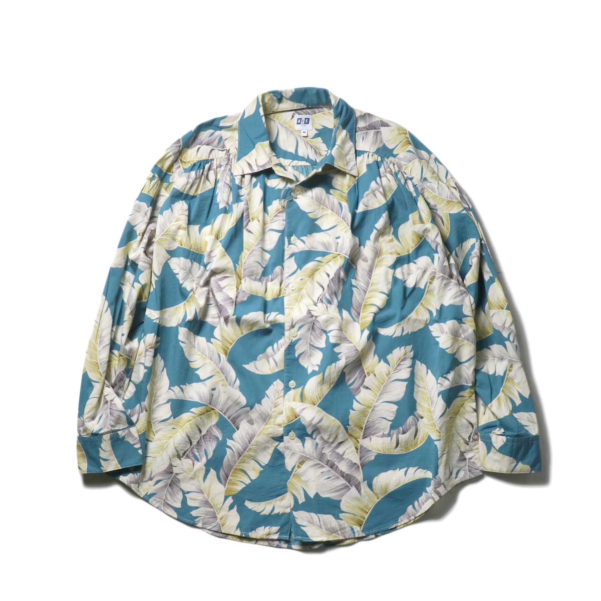 AiE / Painter Shirt - Hawaiian Print (Turquoise)正面