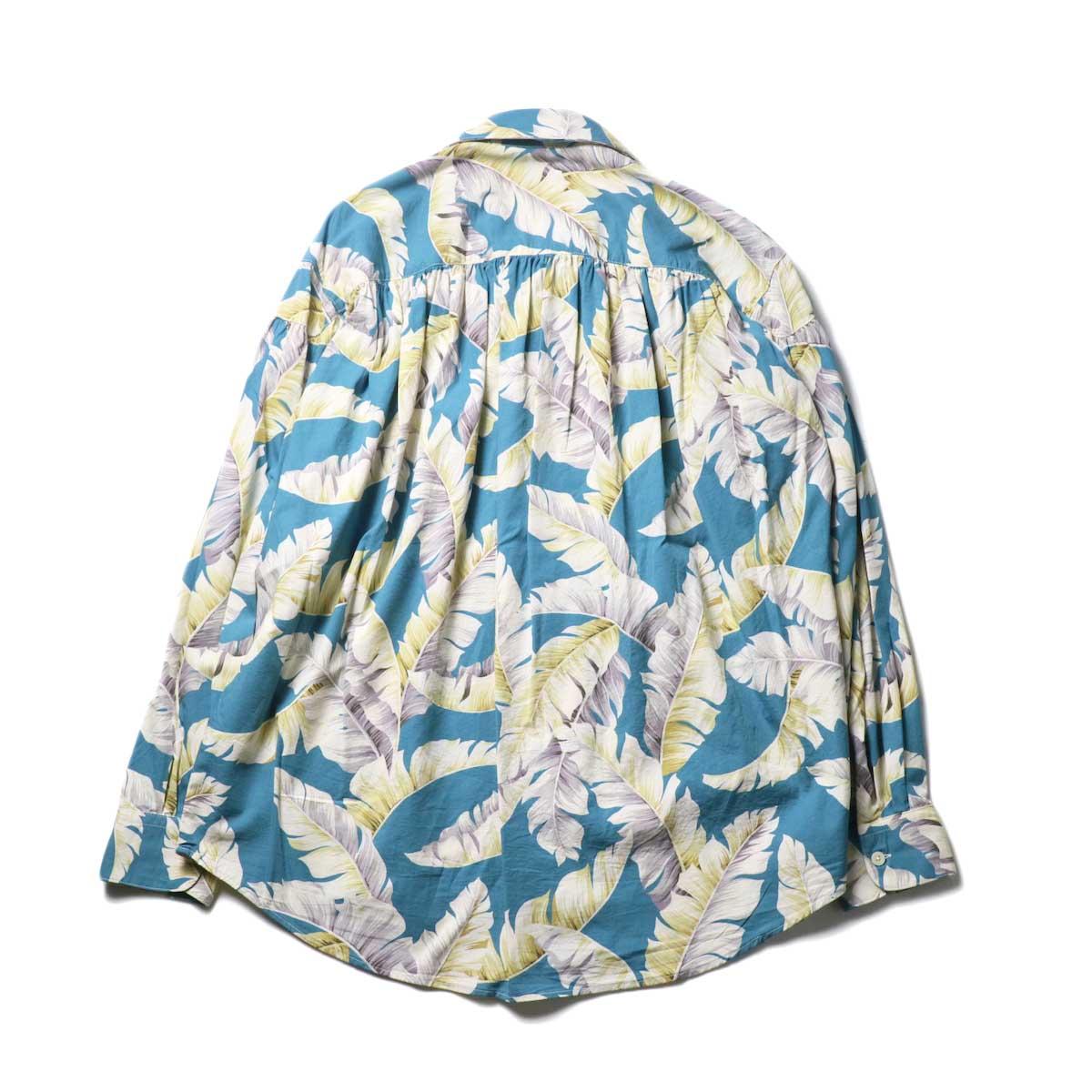 AiE / Painter Shirt - Hawaiian Print (Turquoise)背面