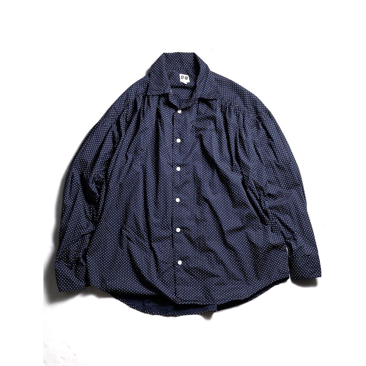 AiE / Painter Shirt - Small Polka Dot (White/Navy)