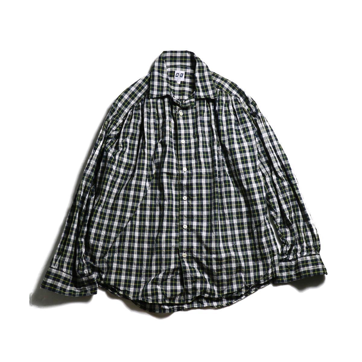 AiE / Painter Shirt - Poplin Plaid (Green/White)