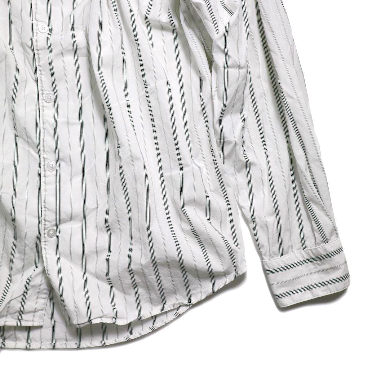 AiE / Painter Shirt -Regent St. (Grn/Wht)  裾