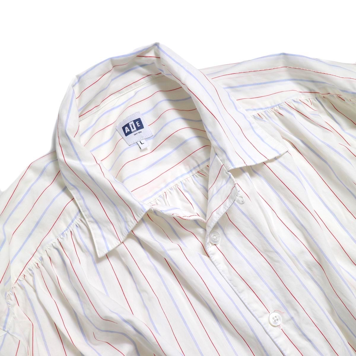 AiE / Painter Shirt -Regent St. (Red/Blu/Wht)  オープンカラー
