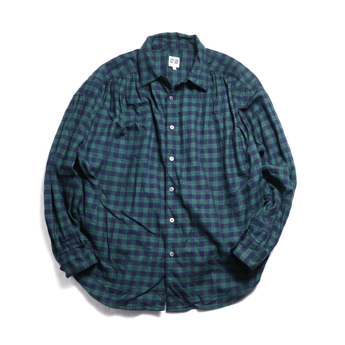 AiE / Painter Shirt -Cotton Tartan Check (Green)