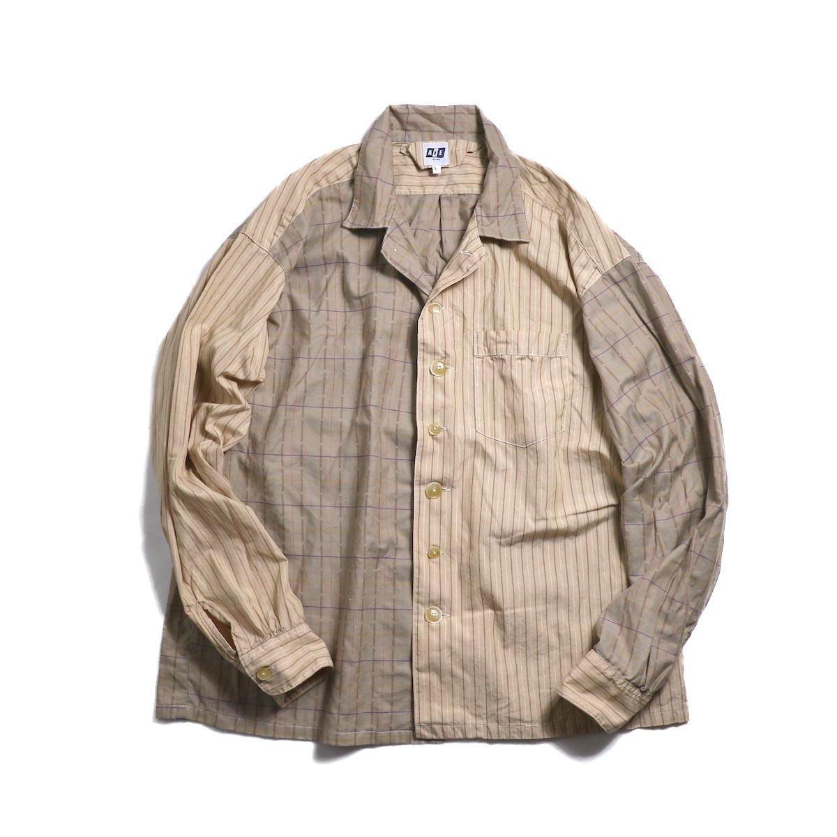 AiE / PJ Shirt -Cotton Dobby Check (Brown)