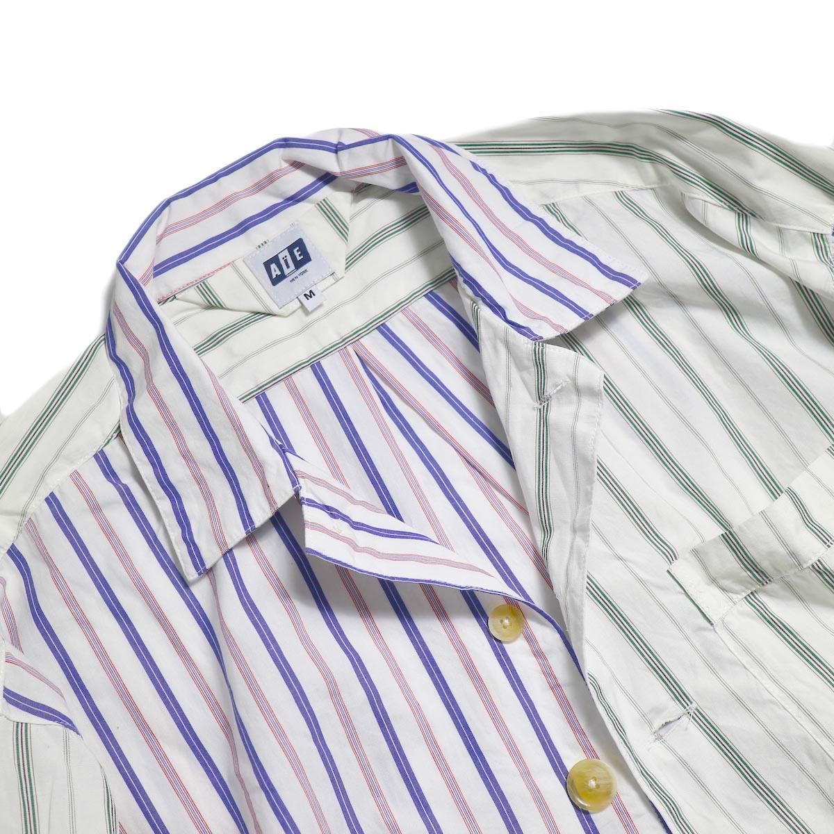 AiE / PJ Shirt -Regent St. (Red/Blu/Wht) 襟