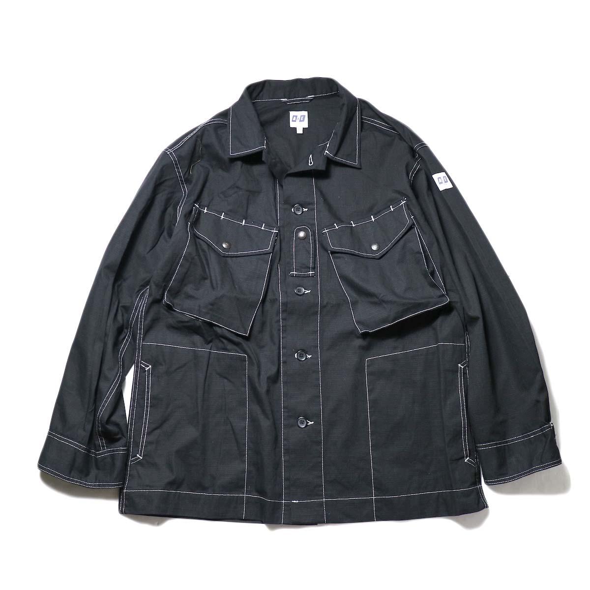 AiE / Prs Shirt -Cotton Ripstop (Black)