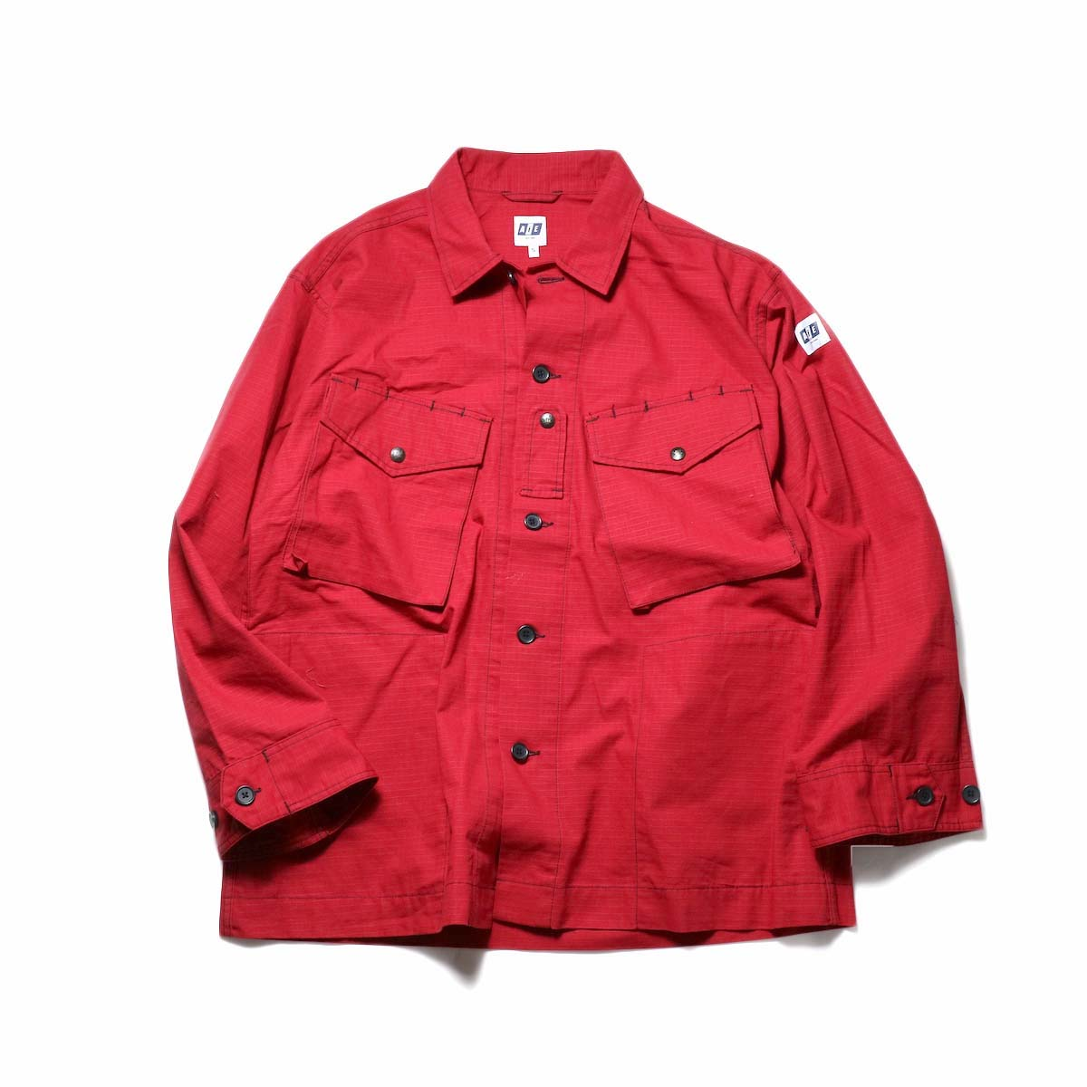 AiE / Prs Shirt -Cotton Ripstop (Red)