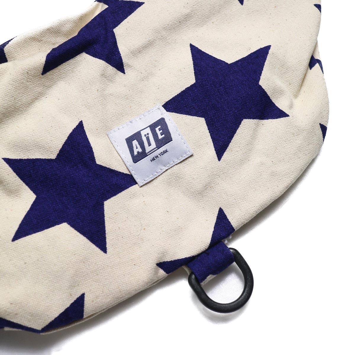 AiE / Waist Pouch -9oz Star Canvas (Natural/Navy)