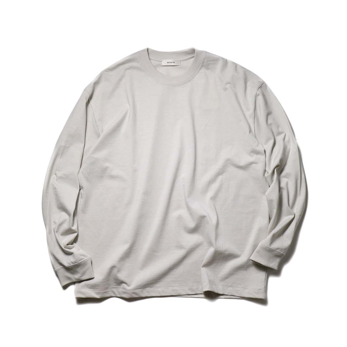 alvana / TANGUIS L/S TEE SHIRTS (Ecru Gray)正面