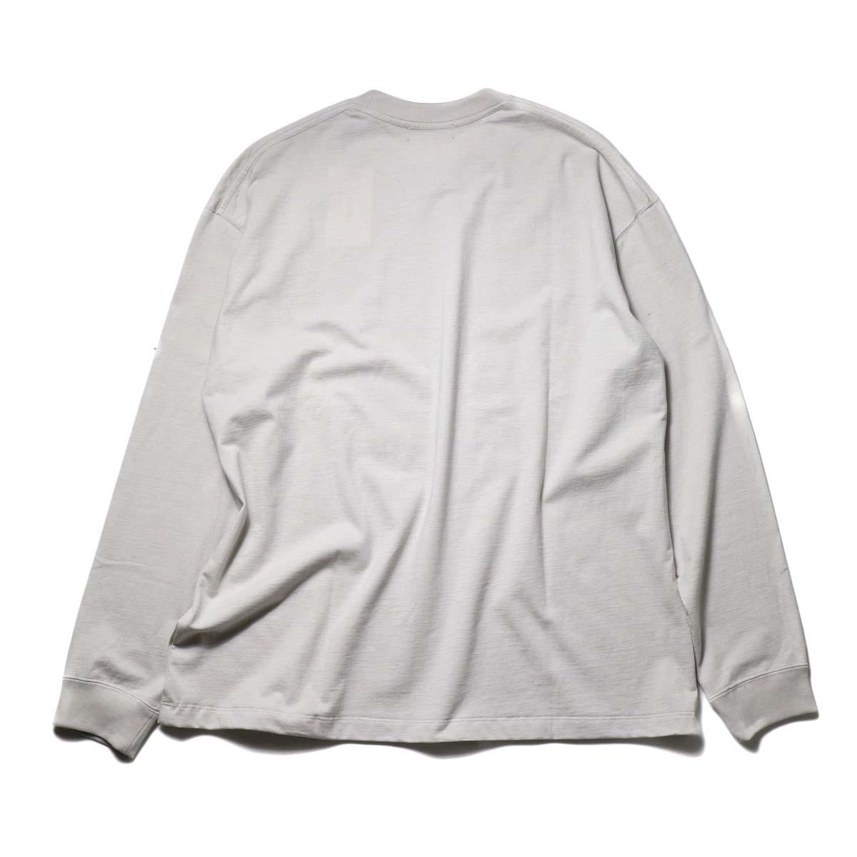 alvana / TANGUIS L/S TEE SHIRTS (Ecru Gray)背面