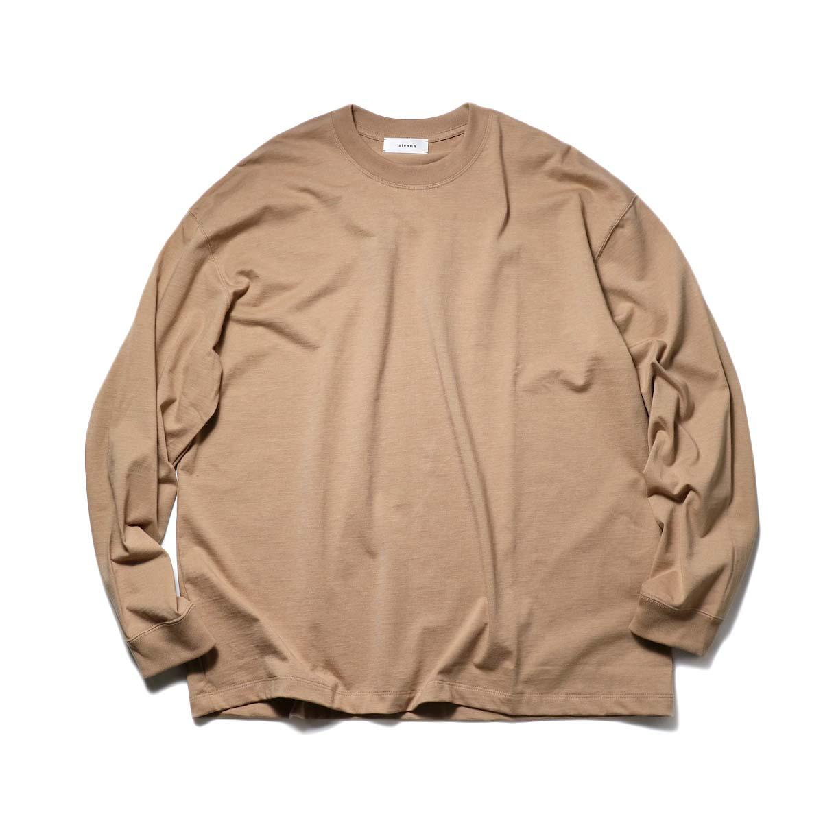 alvana / TANGUIS L/S TEE SHIRTS (Light Brown)正面