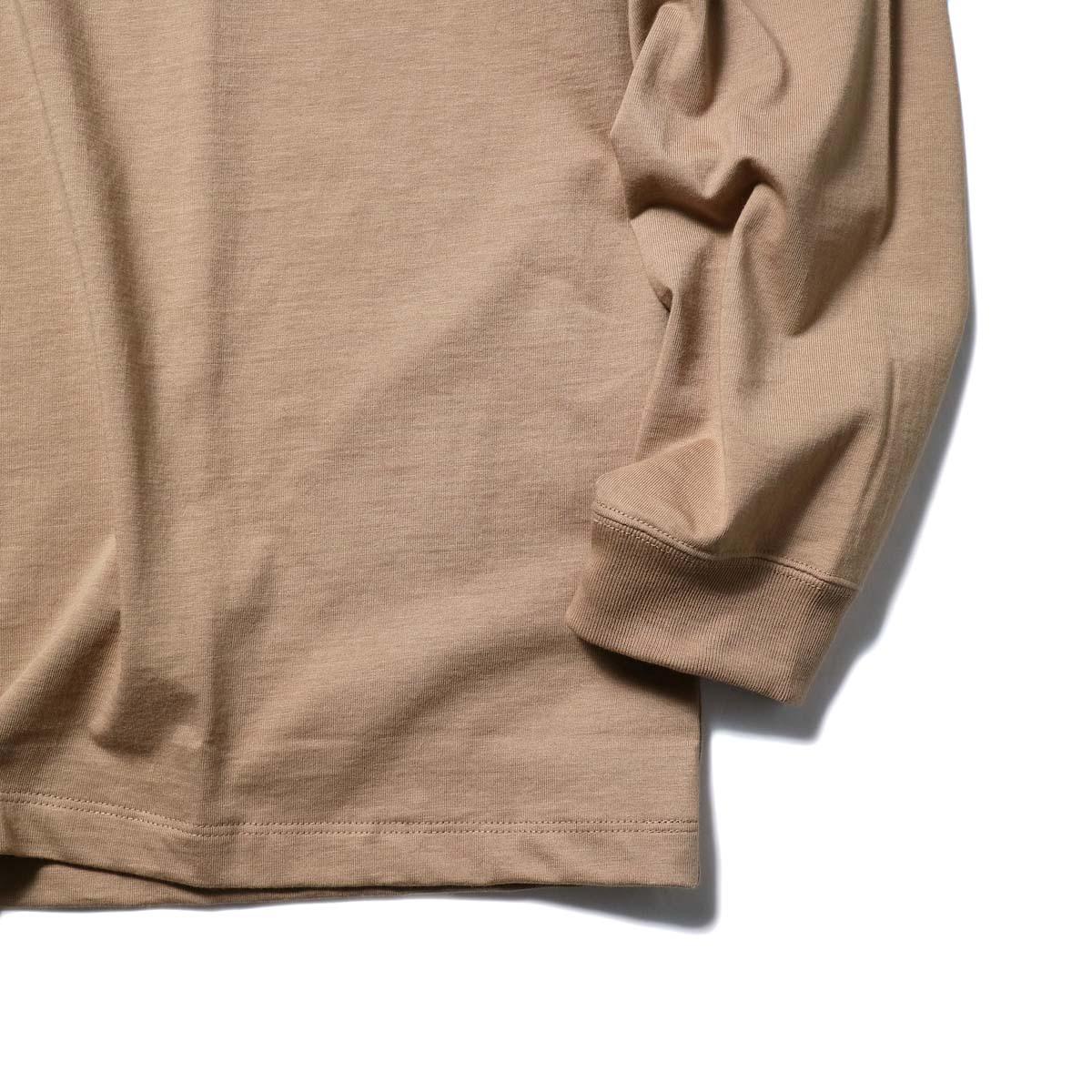 alvana / TANGUIS L/S TEE SHIRTS (Light Brown)袖、裾
