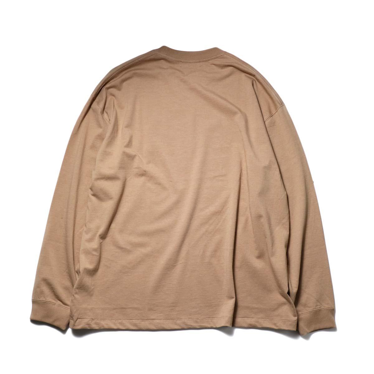 alvana / TANGUIS L/S TEE SHIRTS (Light Brown)背面