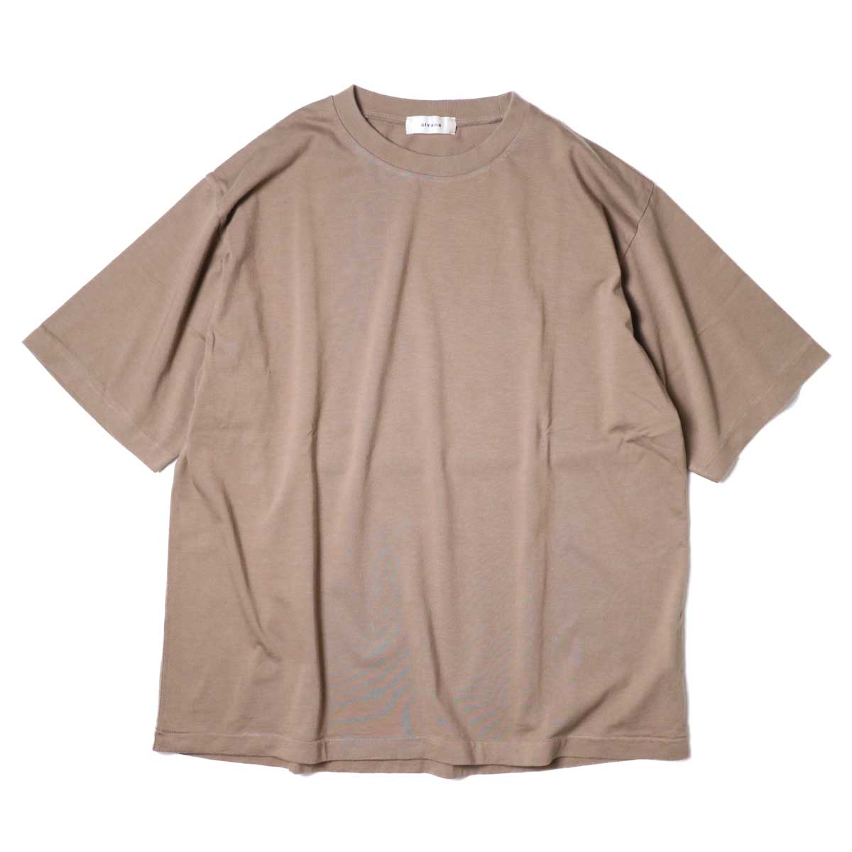 alvana / Dairy Oversize Tee Shirts (Sunset Beige) 正面