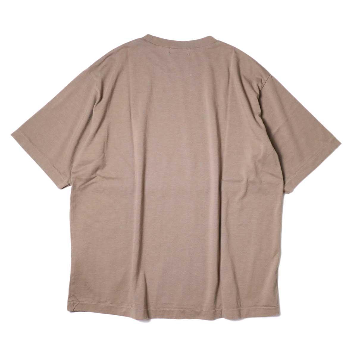 alvana / Dairy Oversize Tee Shirts (Sunset Beige) 背面