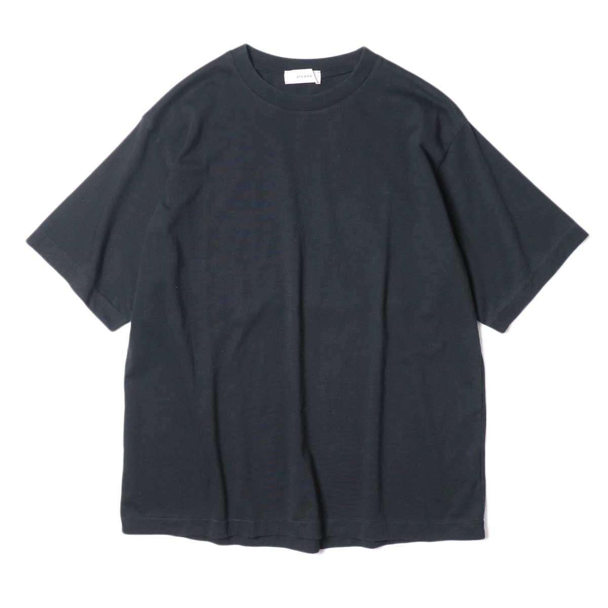 alvana / Dairy Oversize Tee Shirts (Black) 正面