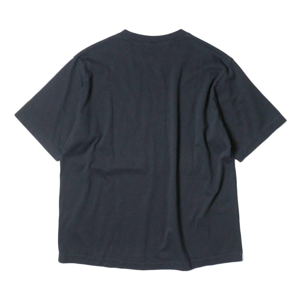 alvana / Dairy Oversize Tee Shirts (Black) 背面
