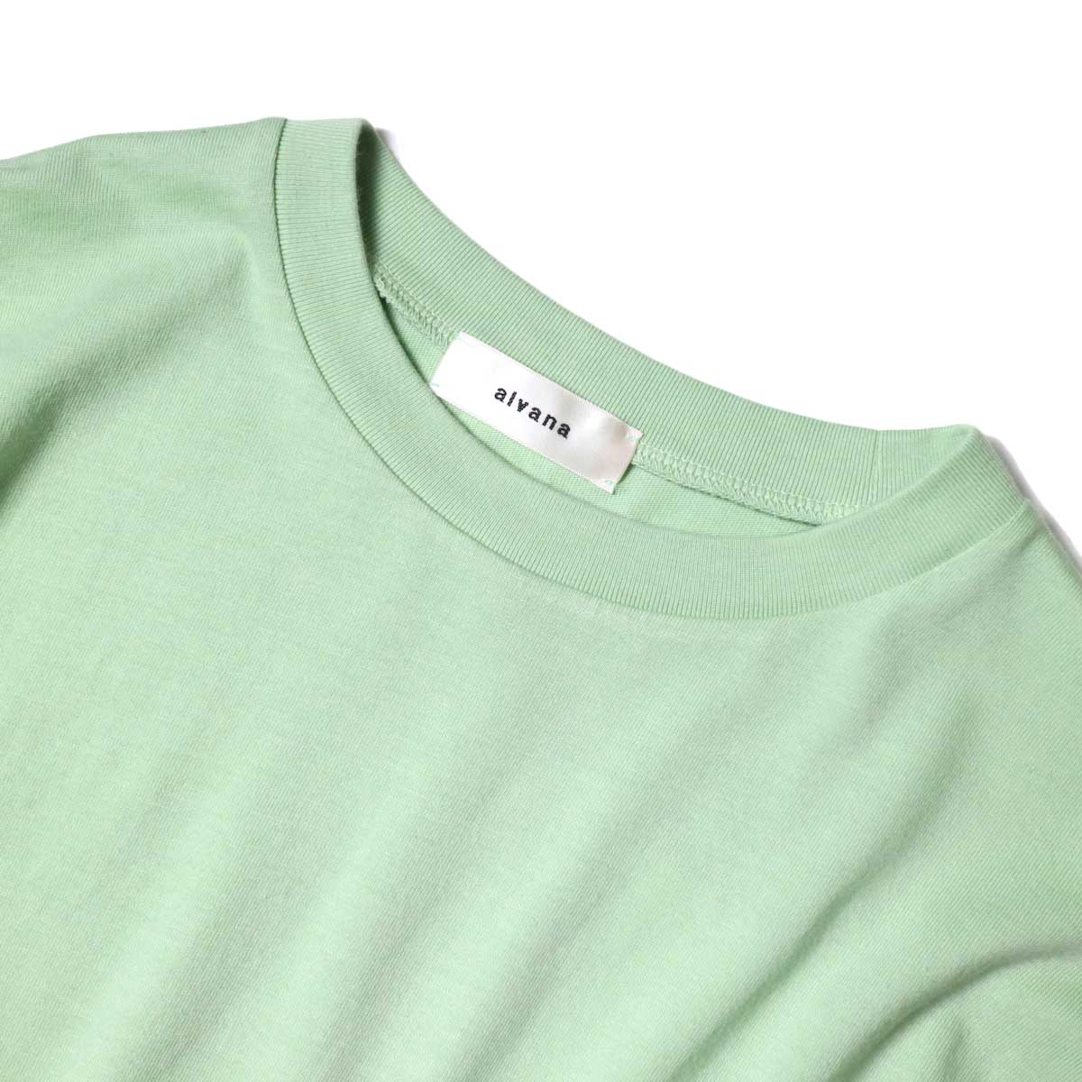 alvana / Dairy Oversize Tee Shirts (Forest Green) ネック