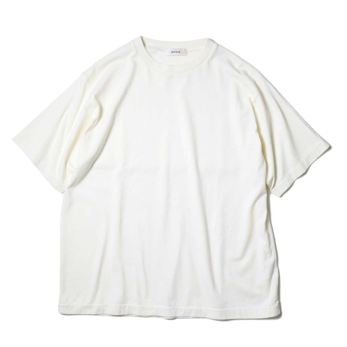 alvana / Dairy Oversize Tee Shirts (Ivory) 正面