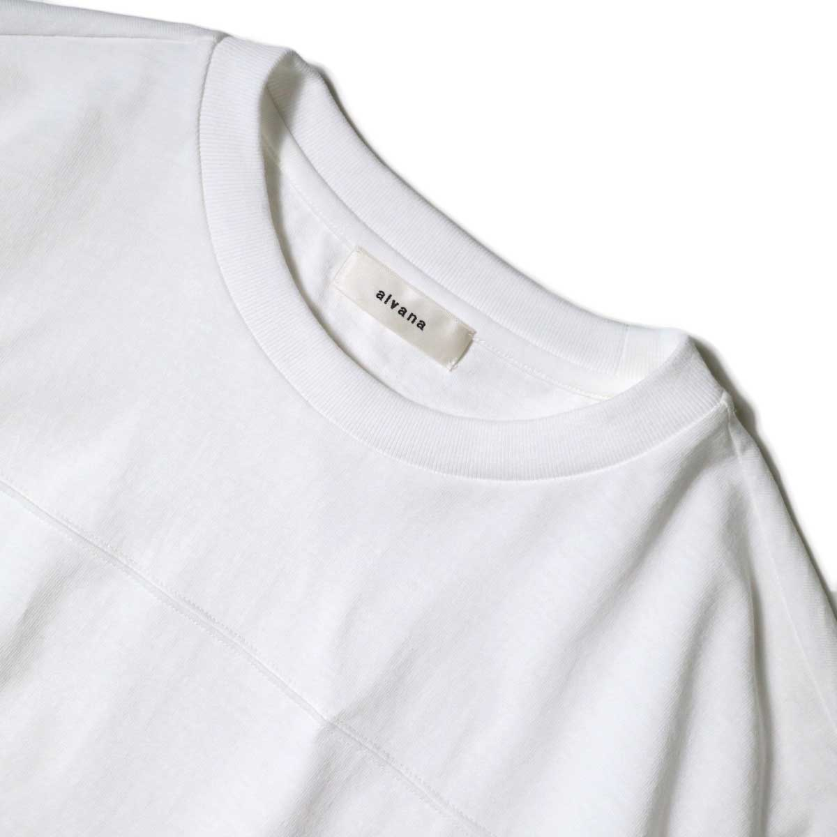 alvana / Protect Football S/S Tee (White)ネック