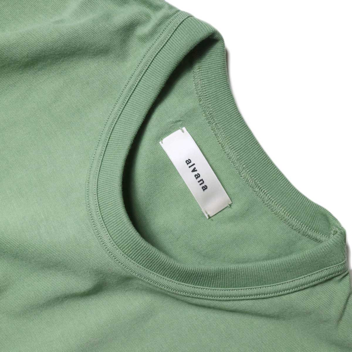 alvana / Tanguis Wide Pocket Tee (Forest Green)ネック