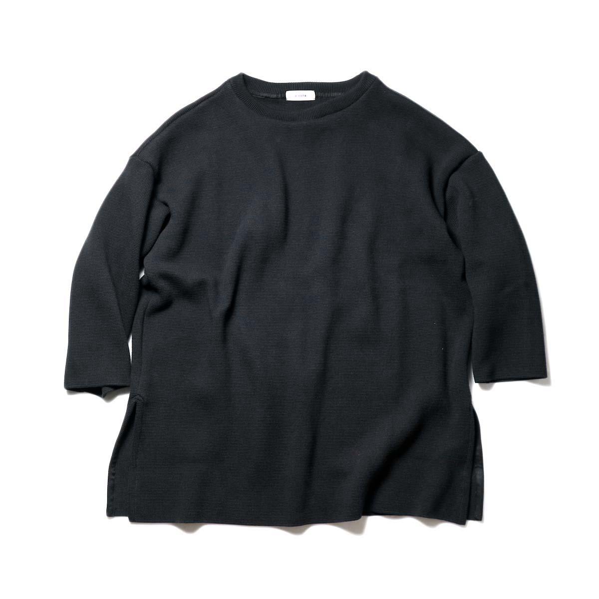alvana / MILANO 2WAY TUNIC P.O (Black)正面②
