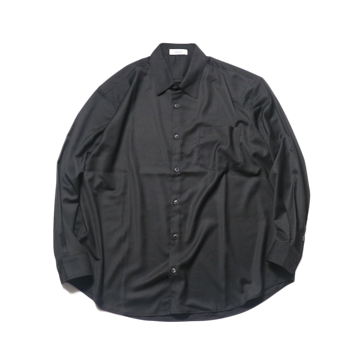 alvana / Wrinkle Proof Wide Shirt (Black)