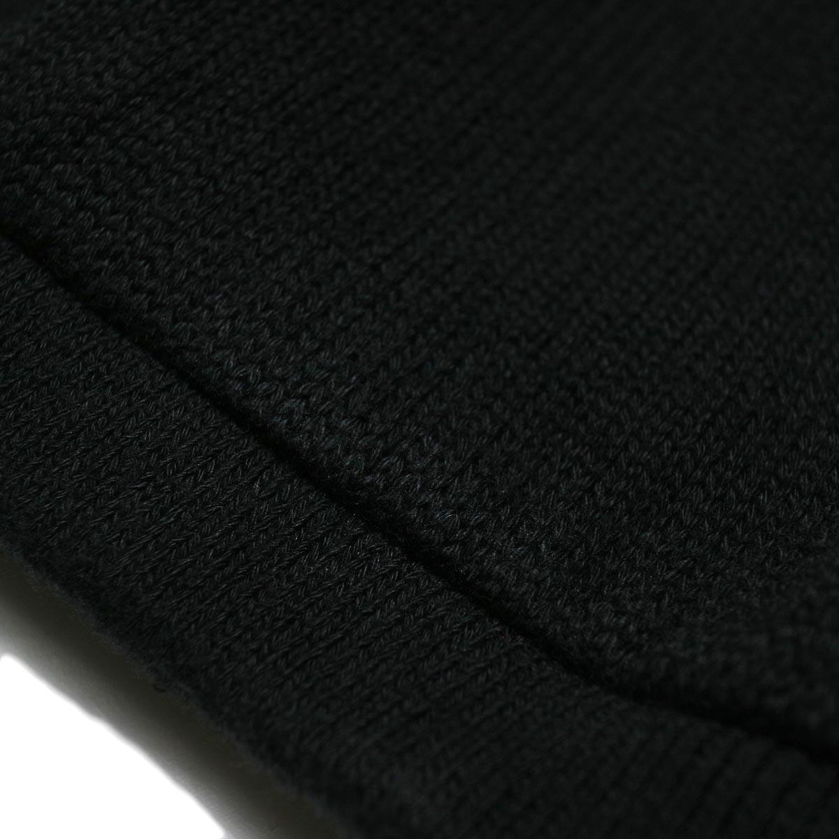 alvana / RIB KNIT CREWNECK P/O (Black) 生地アップ