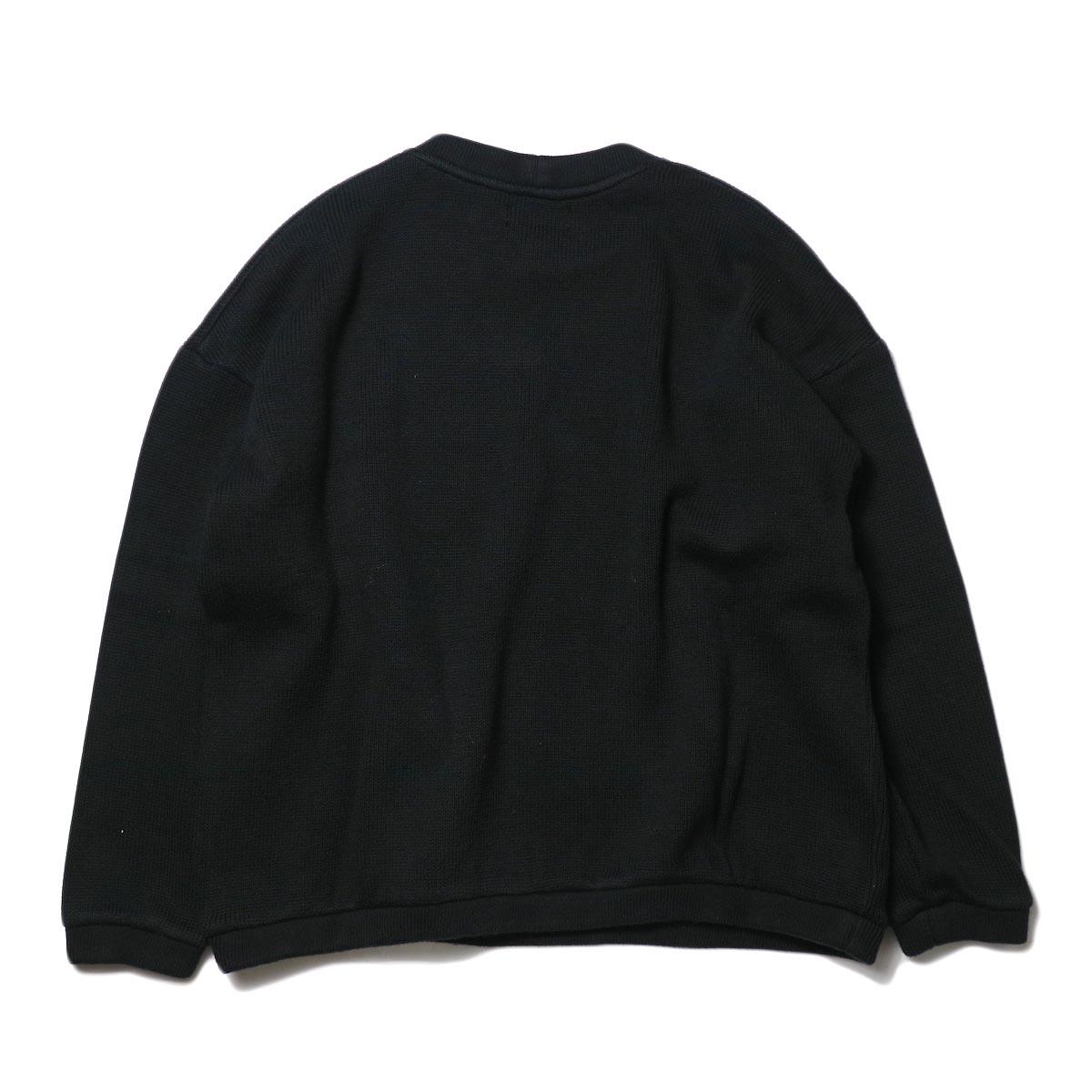 alvana / RIB KNIT CREWNECK P/O (Black) 背面