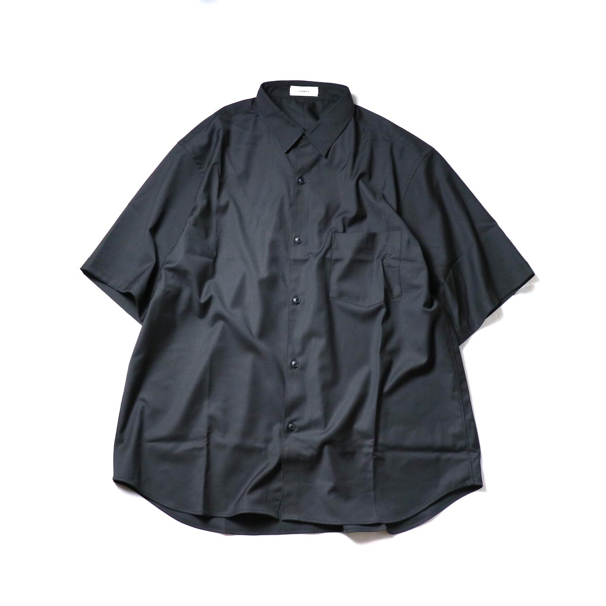alvana / Wrinkle Proof Shirts (Black)正面