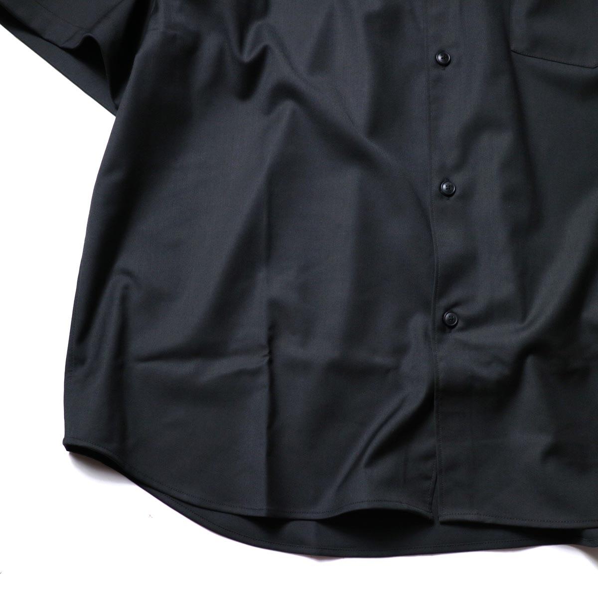 alvana / Wrinkle Proof Shirts (Black)袖、裾