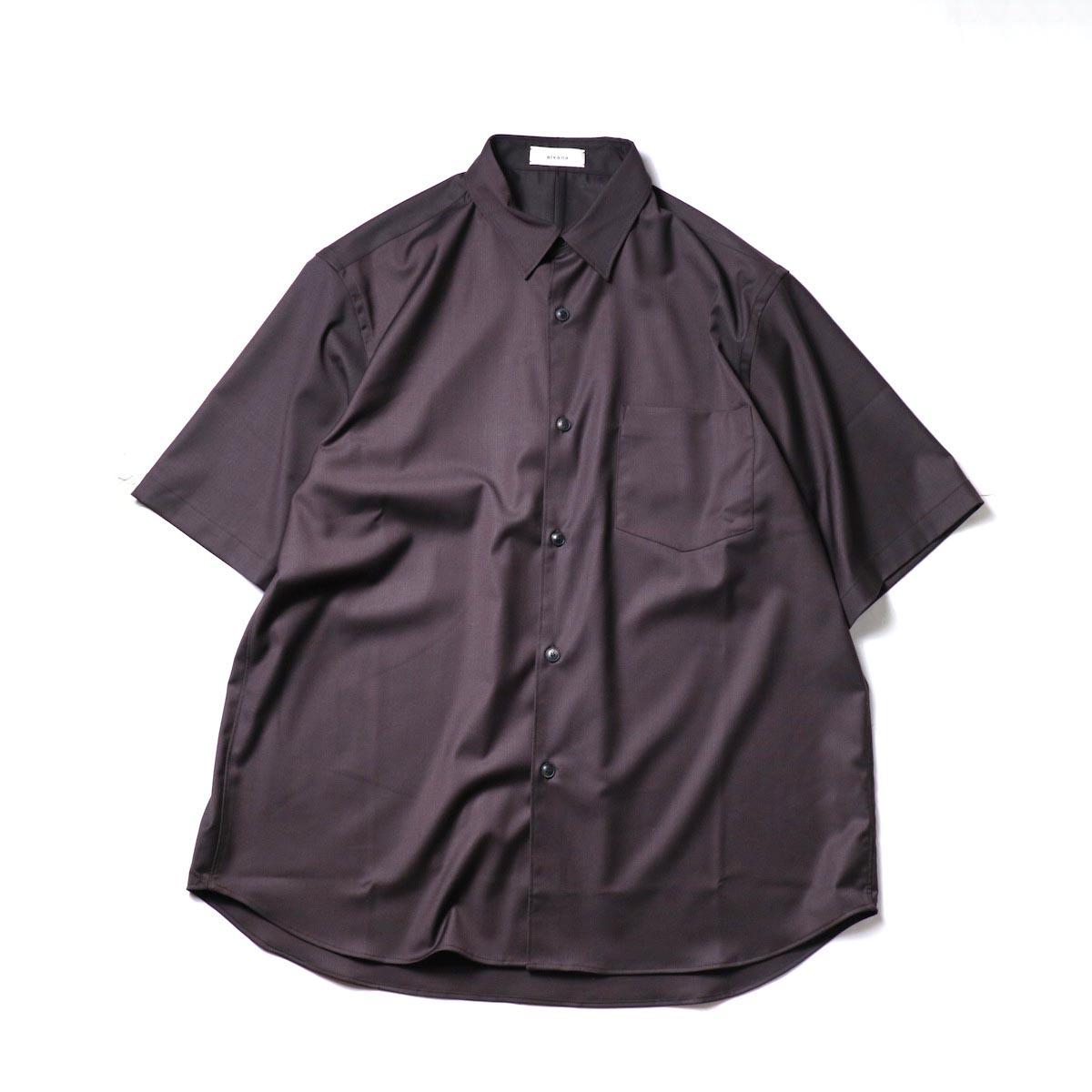 alvana / Wrinkle Proof Shirts (Charcoal)正面