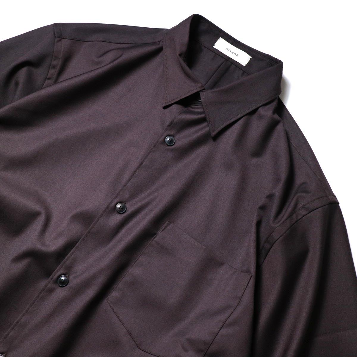 alvana / Wrinkle Proof Shirts (Charcoal)襟