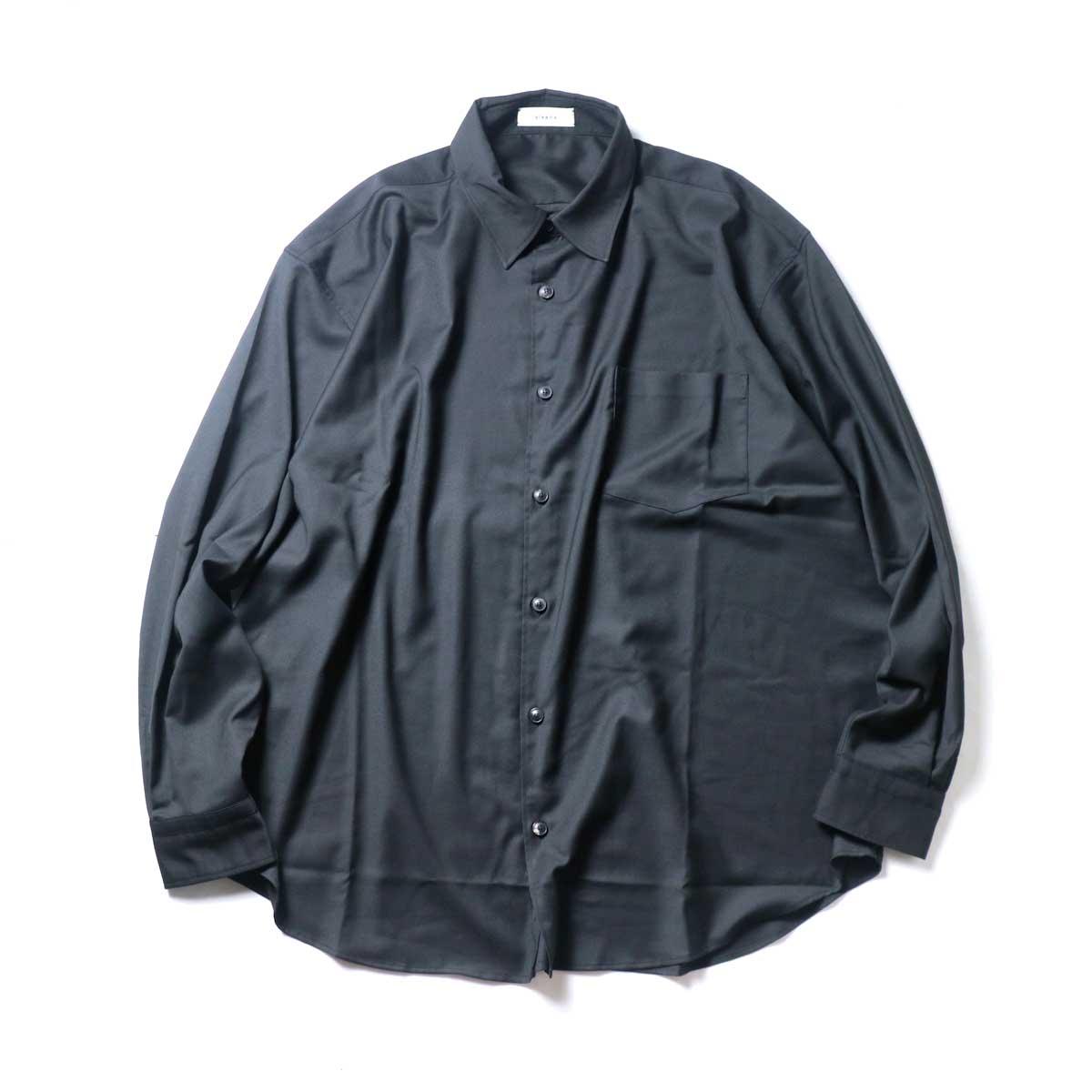alvana / Wrinkle Proof Wide Shirts (Black)