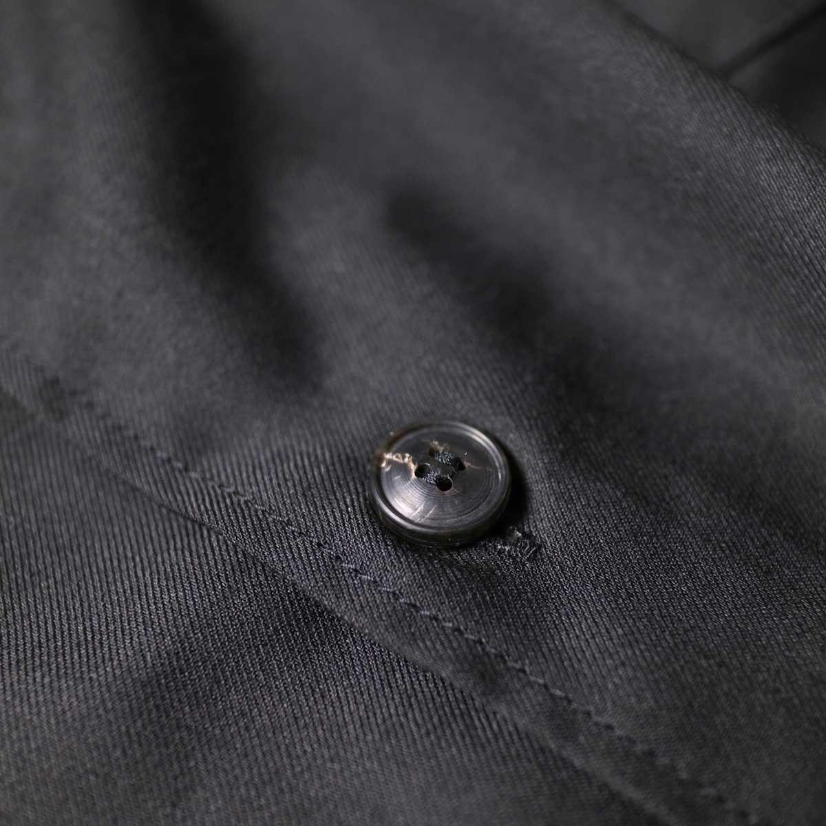 alvana / Wrinkle Proof Wide Shirts (Black)ボタン