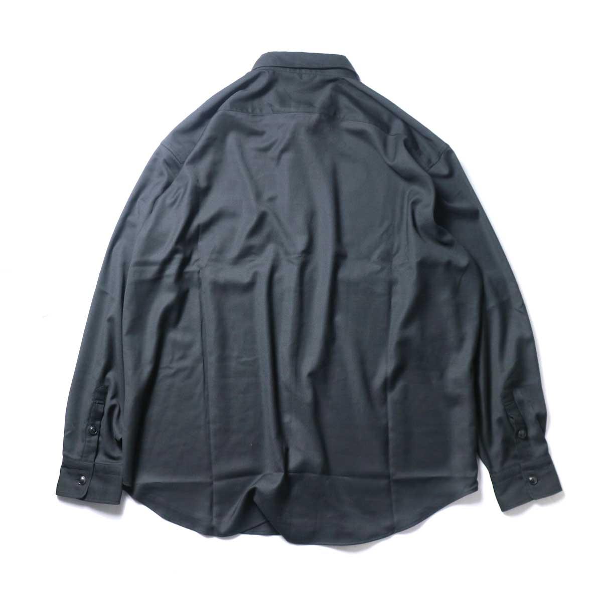 alvana / Wrinkle Proof Wide Shirts (Black)背面