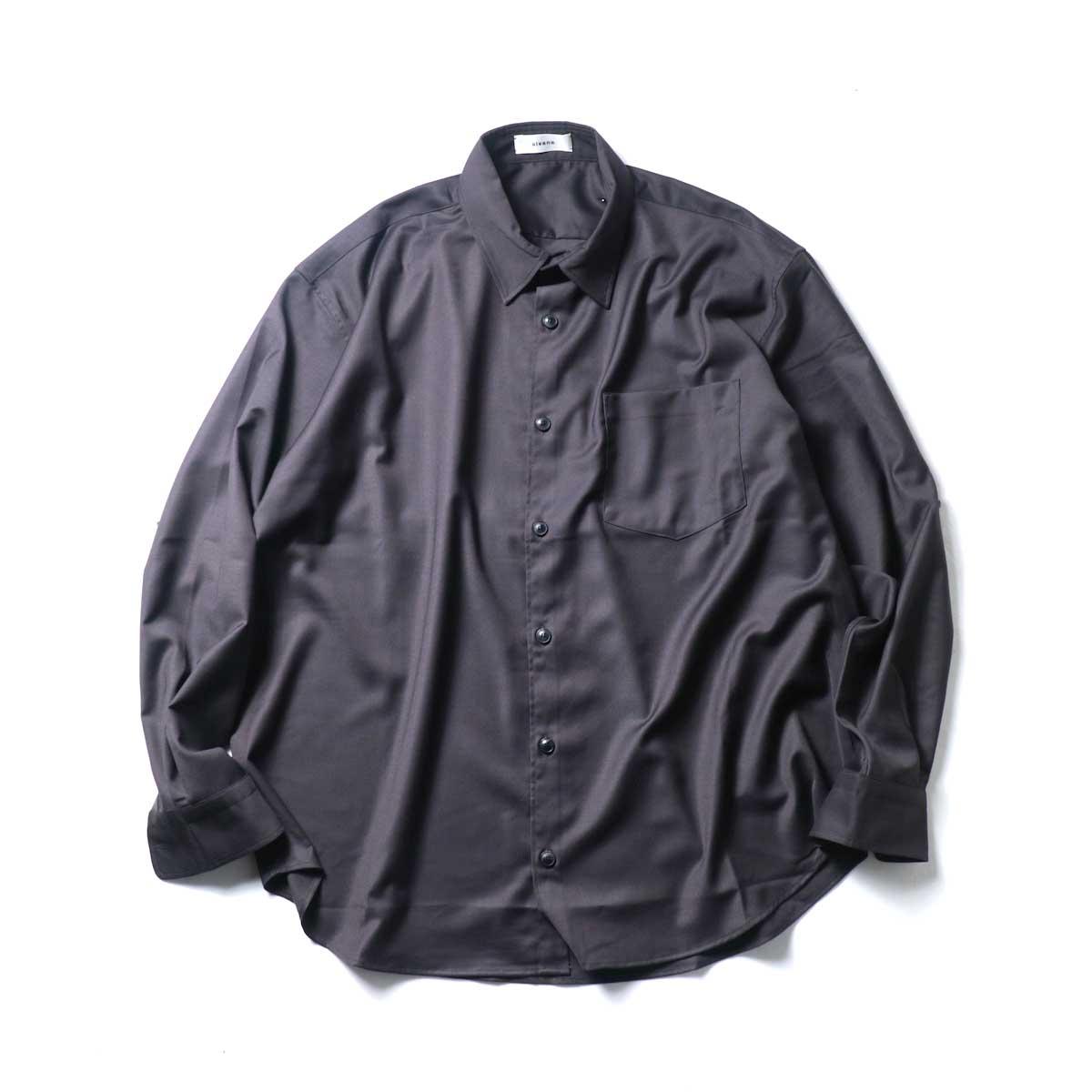 alvana / Wrinkle Proof Wide Shirts (Charcoal)