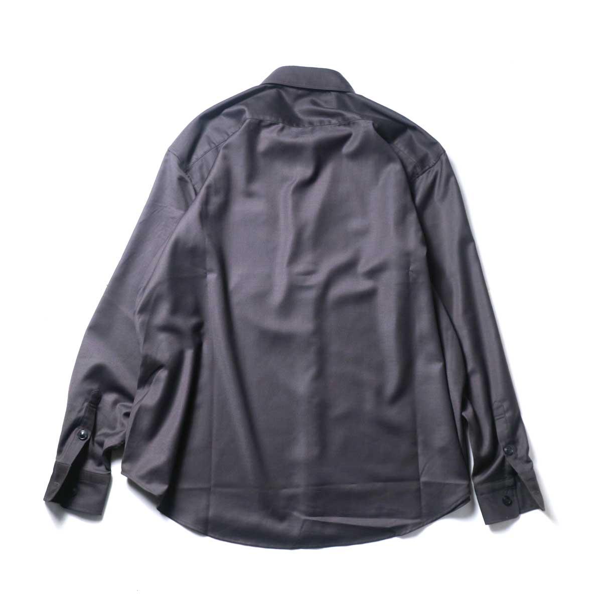 alvana / Wrinkle Proof Wide Shirts (Charcoal)背面