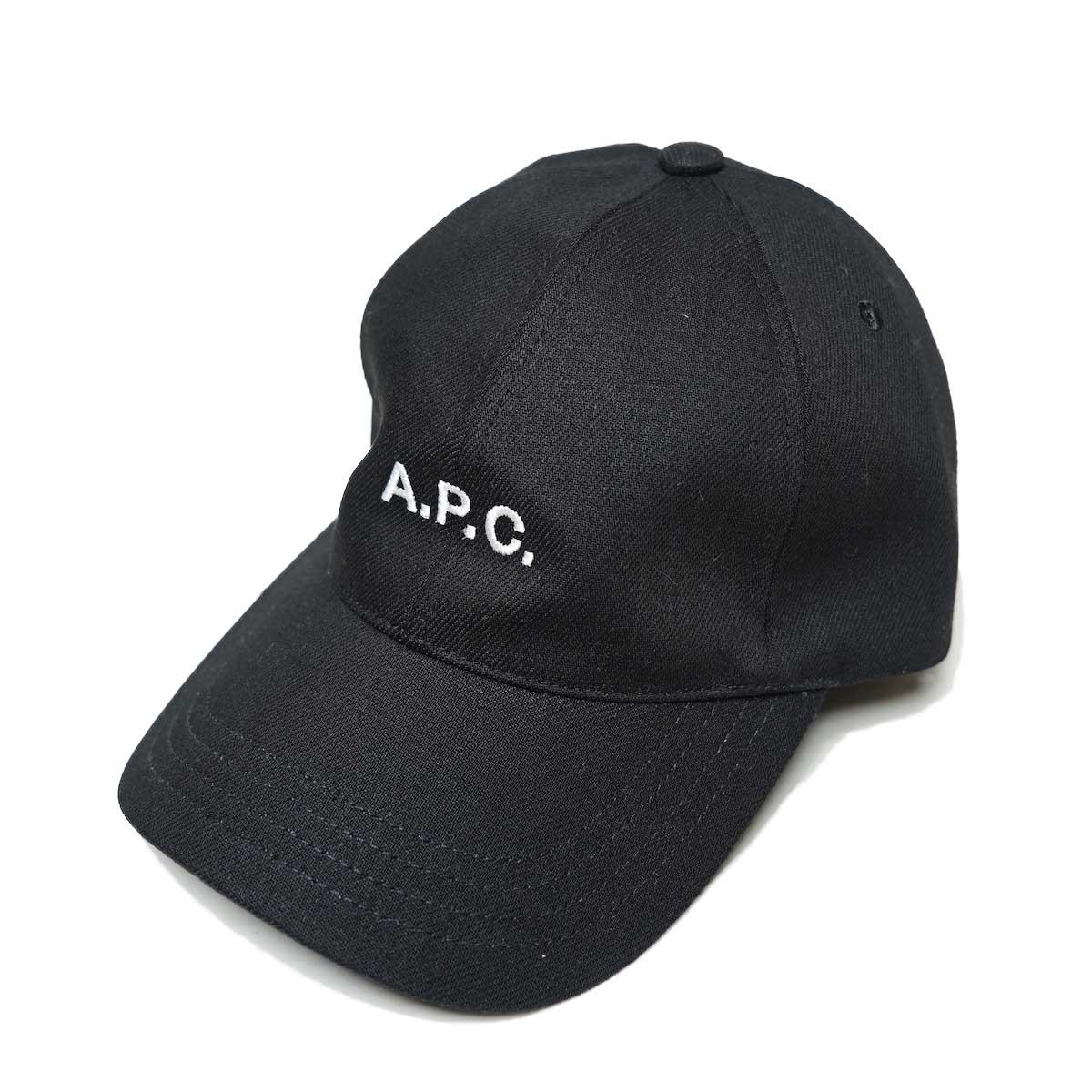 A.P.C / Charlie キャスケット (Black) 全体